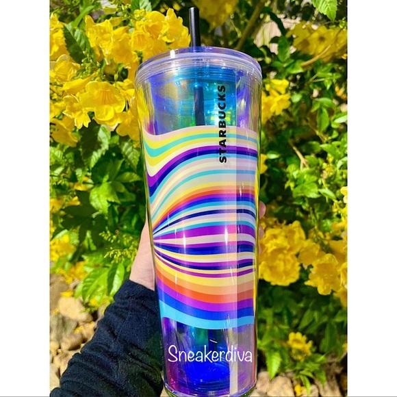 🌈RARE🌈Target exclusive wavy rainbow tumbler cup